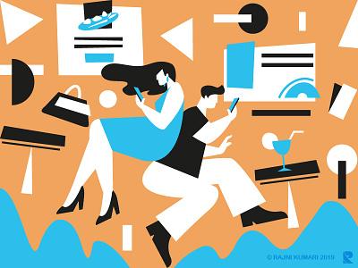 Illustration for invitation card abstract art future invitation design modern digital discovery design branding graphic design illustrator sketch illustration