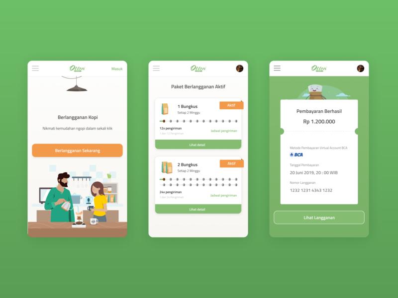 Otten Coffee Berlangganan Kopi icon typography payment app website illustration mobile app design android ux mobile ui user interface design mobile design ui user interface user experience