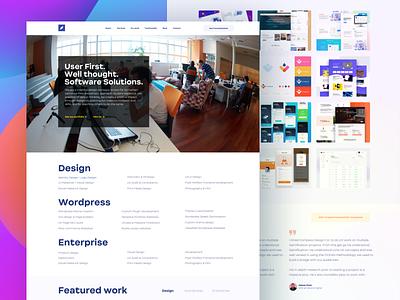 Designing my own agency's website // Compass Design Co. agency site web design webdesign ux ui