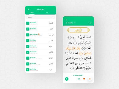 Starting Ramadan with a Quran App UI design quran arabic quran reading app quran app islamic app ux ui