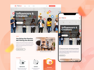 The hub :: Landing page design homepage webdesign ux ui