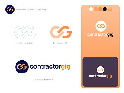 Minimal and Clean Logo Design for contratorgig identity design logo design mark logo