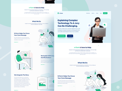 Web Design for legal form solution company landing page design ui design web design ux ui