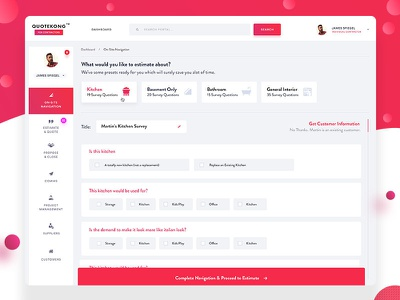 Estimate Module for CaseStudy QuoteKong webappui portal webdesign dashboardui ui ux dashboard