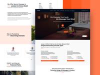 Massagi - Information Rich homepage design