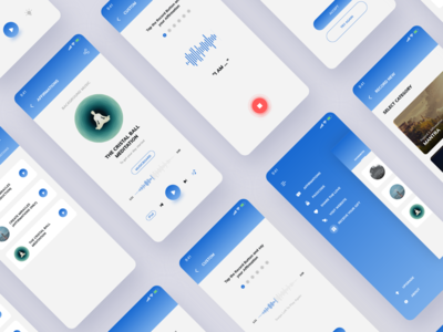 Meditation app design UI