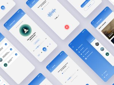 Meditation app design UI