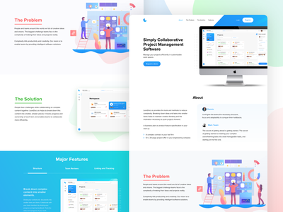 Landing Page Design for Project Management Solution conversion illustration homepage landing page