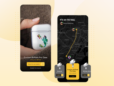Hand made cases - Doorstep delivery concept ux ui