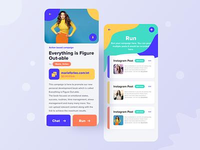 Influencer Marketing App Design UI