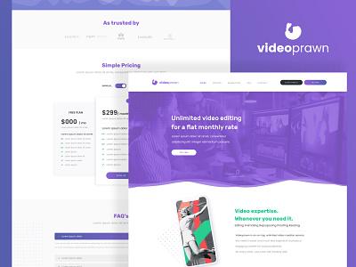 Video Prawn Web Design icon flat web website ui ux minimal design branding app