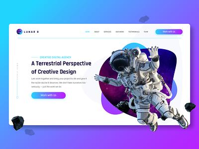 Lunar8 Web Design illustrator vector design branding flat website web ux ui minimal