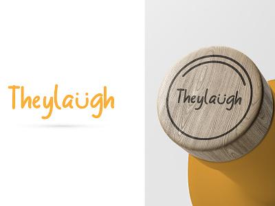 They Laugh Logo Design lettering logo type vector typography icon flat design minimal branding