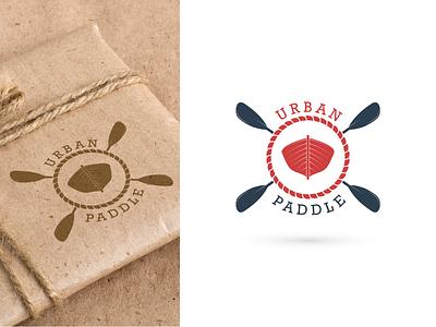 Urban Paddle Logo lettering type typography vector logo flat icon minimal design branding