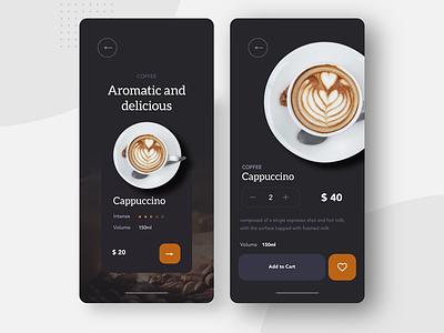 Coffeene vector art flat website web app design ux ui