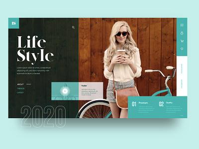 Life Style web Design Concept type art branding website web design flat app ux ui