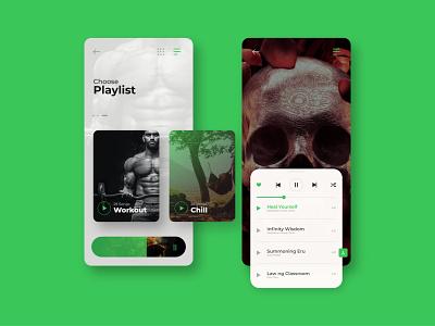 Music Player UI Design minimal illustrator vector logo branding design web app ui ux