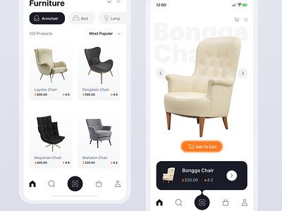 ChairUI 01 website app web flat minimal design ux ui