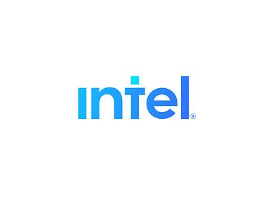 Intel Logo Redesign flat icon minimal branding vector logo design