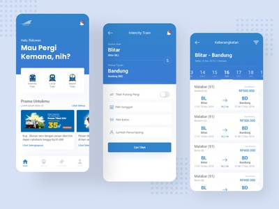 KAI Access Ticket Booking Apps Redesign