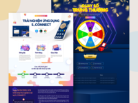 Landing Page for Business Bank lucky draw landing bank landing page design mobile app web design ui ux