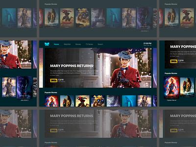 Daily UI #025 - TV App tvos tv series television dark movies 025 dailyui tv app ux ui