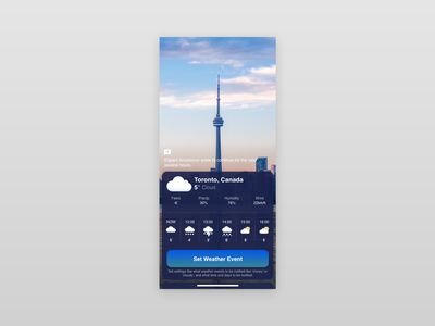 Daily UI #037 - Weather colors forecasts temperature city weather 037 dailyui mobile app ui ux