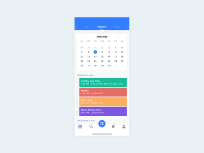 Daily UI #038 - Calendar appointment scheduling reminder calender 038 dailyui mobile app ui ux