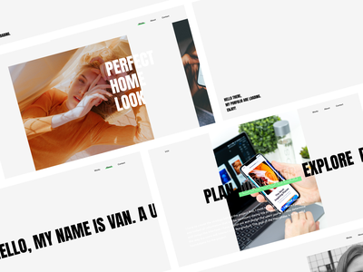 My Portfolio Site vo viet van lets talk layout grid minimal contact about work clean typography simple flat persional portfolio design mobile app web design ui ux