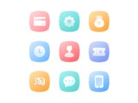 Gradient ramp icons