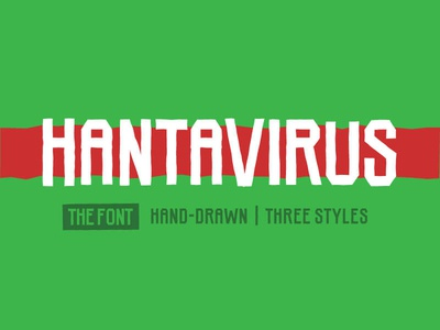 Hantavirus Font lettering geometric slab serif industrial distressed rough hand drawn typography typeface type font