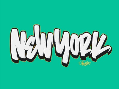 New York Graffiti Lettering ipad procreate new york city lettering calligraffiti graffiti ny nyc new york