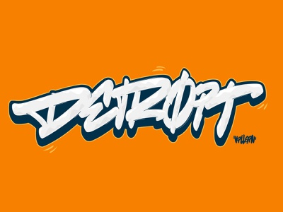 Detroit Graffiti Lettering handstyle procreate ipad lettering calligraffiti calligraphy michigan detroit