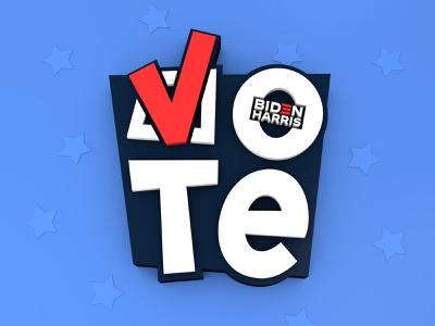 Have you voted yet? vote usa typography save democracy riseupshowupunite c4d procreate president illustration fuck trump election lettering calligraphy biden harris biden 2020 3d