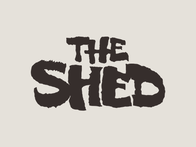 The Shed identity hand drawn texas branding logo illustration lettering calligraphy ruling pen