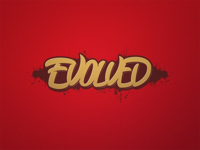 Evolved stuff space nature evolve typography type ux ui logo lettering design calligraphy