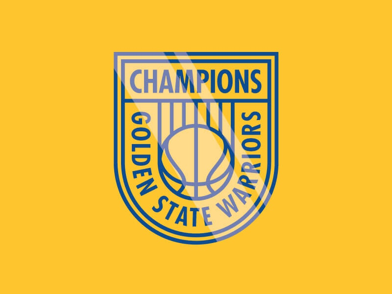 Champs badge team sports cavaliers lebron durant curry golden state champions nba basketball warriors