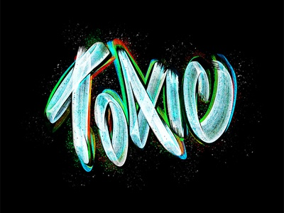 Toxic Lettering