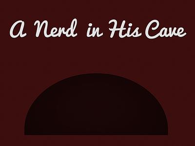 (Free PSD) A Nerd in His/Her Cave Wallpaper wallpaper freebie free download design illustration typography type texture dark nerd red