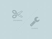 Frameworks vs Custom  Code