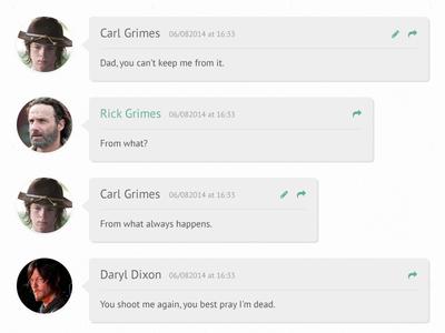 Flat 3D Comments (Walking Dead)