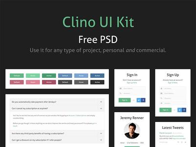 (PSD) Clino Free UI Kit