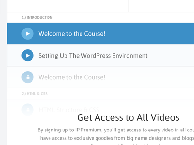 Videos List (Logged Out) design web design website icon toc play access