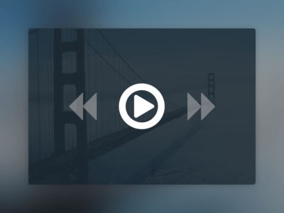(Free PSD) Minimal Video Player freebie free design blue minimal player video icons ui web