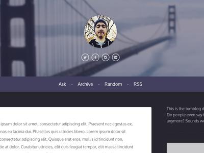 Tumblr Theme Header template theme tumblr icons website web design design