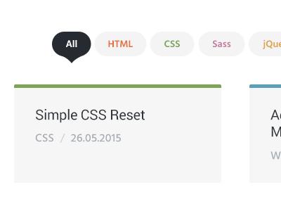 Snippets Filter blog nav menu web design website web