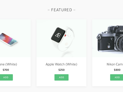 Featured Products web design web design ui wordpress shopify ecommerce store shop