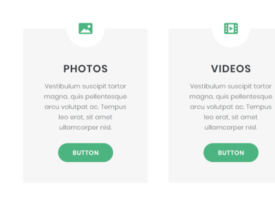 Icons in boxes green button icon web design website web design