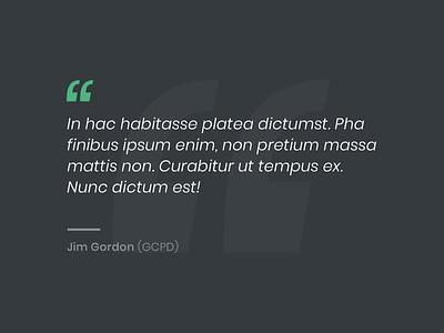 Quote icon dark green blue typography web design web website design