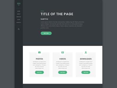 SDS - Free PSD Template psd freebie free web design website web design
